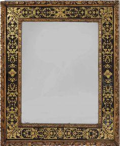 Collection Alberto Pinto : MIROIR DE STYLE BAROQUE PROBABLEMENT ANGLETERRE, FIN DU XIXe SIECLE, REEMPLOYANT DES ELEMENTS ANCIENS