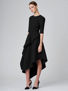 Draped Stretch-Wool Dress - Ready to Wear - Oscar de la Renta, $2,390