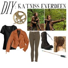 """DIY: Katniss Everdeen Halloween Costume"" by hari-kari on Polyvore"