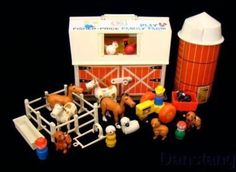Fisher Price farm.   My grandmother has this one.  1970s toy! I got this for my first birthday!