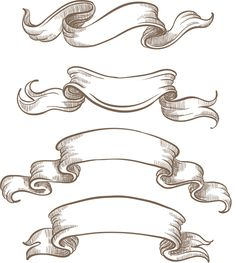 Hand drawn vintage ribbon benner vector 06 - Vector Banner free download
