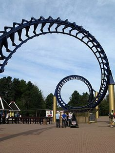 The old Corkscrew at Alton Towers - now a decoration.