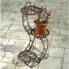 images of diy tiered antique plant stand plans Tiered Plant Stand Indoor, Metal Plant Stand, Plant Stands, Herb Planters, Planter Pots, Iron Art, Plant Shelves, Iron Decor, Stand Design