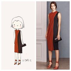 Orange dress by Jason Wu. catplusmouse