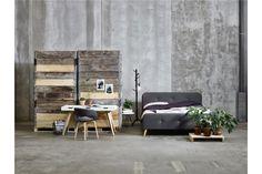 Łóżko Paradis 140 Dark Grey Szare z tkaniny nogi drewniane pikowane