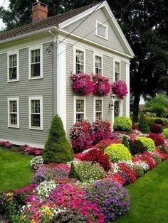 Front Yard Landscape Design I am going to try to accomplish this in my back yard all along my privacy fence...all the way around...should have it done it two years or less....that's my goal....