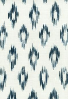 Kerala Ikat Print Indigo by F Schumacher Fabric Textiles, Textile Patterns, Textile Design, Fabric Design, Print Patterns, Design Patterns, Pillow Fabric, Ikat Fabric, Ikat Pattern