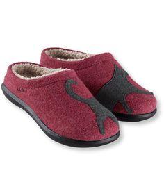 Daybreak Scuffs, Motif: Slippers | Free Shipping at L.L.Bean   -   OMG!!! NEED!!!!  CATS!!!