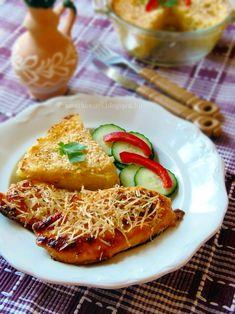 Tejfölben pácolt csirkemell tepsis reszelt krumplival Hungarian Recipes, Hungarian Food, Recipes From Heaven, Ratatouille, Pasta Salad, Food And Drink, Meals, Chicken, Drinks