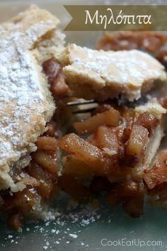 Συνταγή: Μηλόπιτα ⋆ CookEatUp Greek Desserts, Greek Recipes, Fruit Recipes, Apple Recipes, Cooking Recipes, Cakes And More, Apple Pie, Sweets, Snacks