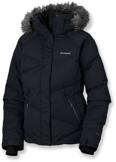 Black Puffer jacket from Columbia <3 mine