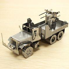 Cut Láser PIECECOOL Defensa Aérea Truck DIY 3D Modelos Puzzle