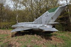 The title MiG in a Wood pretty much sums it up. Urban explorer Sébastien ERNEST reportedly discovered this abandoned MiG-21 Fishbed fighter jet in a woodland clearing somewhere in Europe.