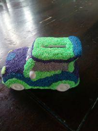 Auto Spaarpotten versieren met Foam Clay