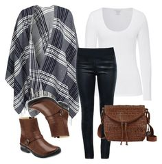 """""""Fall Outfit Idea #6"""" by thebudgetbabe on Polyvore featuring GANT, Majestic, Moka London, Keen Footwear and The Sak"""