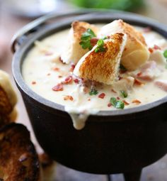Chicken Cordon Bleu Soup  INGREDIENTS ¼ cup butter ¼ cup flour 2½ cups half and half (half and half is a half cream, half milk mixture found next to the heavy cream) 2½ cups milk 1 Tablespoon chicken base, or two chicken bullion cubes crushed 8 oz. cream cheese, softened 2½ cups chopped rotisserie chicken (cooked chicken breast will work) ½ cup cooked and chopped bacon 1 cup cubed ham 2 cups grated Swiss cheese  INSTRUCTIONS In a large sauce pan melt butter and then add the flour to make a…