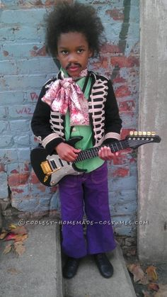 Coolest Homemade Jimmy Hendrix Costume for a Boy