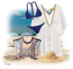 """""""Electric Casino Beach Bag"""" by diane-hansen ❤ liked on Polyvore"""