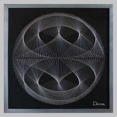 """""""Orion"""" String Art panels. Custom decorative panels for walls in the style of String Art."""