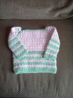 Etsy listing at https://www.etsy.com/listing/178667895/pink-and-green-striped-pullover-sweater