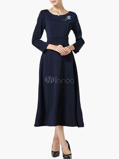 Rose Embroidered Vintage Dress
