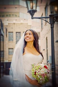 Our beautiful European-style courtyard with an even more beautiful bride! Weddings at The Mining Exchange (a Wyndham Grand Hotel) in Colorado Springs, Colorado.