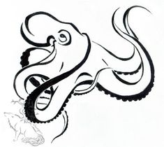 Octopus Tattoo Design by ~silverheartx on deviantART I like how this keeps the lines simple but still has the idea of suckers Octopus Tatoo, Octopus Tattoo Sleeve, Squid Tattoo, Octopus Drawing, Octopus Tattoo Design, Octopus Art, Tattoo Designs, Tattoo Ideas, Tattoo Bein