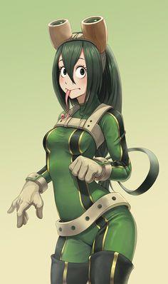 Tsuyu asui tsuyu asui, my hero academia, boku no academia, super My Hero Academia Tsuyu, Boku No Academia, Buko No Hero Academia, My Hero Academia Manga, Tsuyu Asui, Hero Academia Characters, Female Characters, Popular Anime Characters, Chino Anime