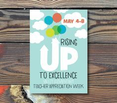 13x19 Poster Great for Advertising for your Teacher Appreciation Week Personalize with Date and School Name