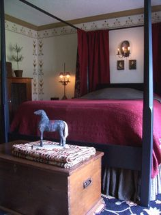 Master Bedroom..LB Primitive Country Bedrooms, Primitive Homes, Primitive Decor, Farmhouse Bedrooms, Early American Decorating, Colonial Bedroom, Dream Bedroom, Master Bedroom, American Interior