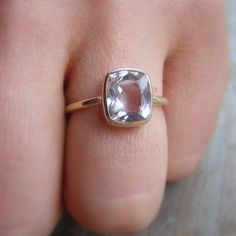 simple & pretty.... Ballerina Ring 14k Gold and Morganite Made To by onegarnetgirl, $748.00
