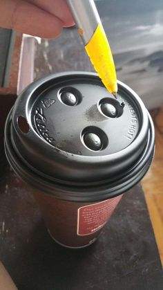 Poke holes in the top of a coffee lid if you want your beverage to cool down faster.