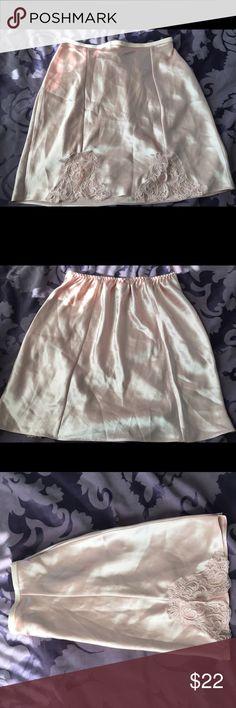 PINK SATIN SLIP Pink satin SLIP with lace Cacique Intimates & Sleepwear Chemises & Slips