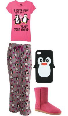 """Penguin Pj's"" - 2 of my favorite things! Small or Medium All About Penguins, Cute Penguins, Cute Pajamas, Cute Pjs, Penguin World, Penguin Clothes, Penguin Love, Diesel Punk, Pajama Party"