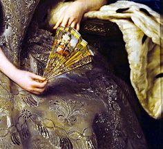 Portrait of Hedwig Elisabeth Charlotte of Holstein- Gottorp (Détail) Alexander Roslin  - 1774