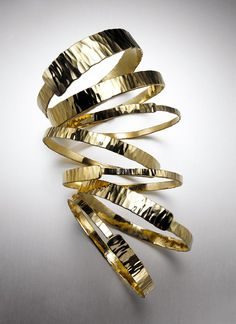 Medium and Thin Gold Bangles by Albert Zuger