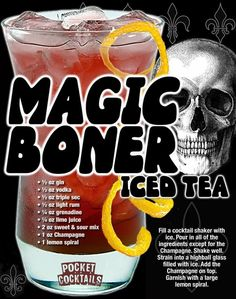 Mixed Drinks Alcohol, Alcohol Drink Recipes, Iced Tea Cocktails, Cocktail Drinks, Cocktail Desserts, Halloween Bebes, Alcholic Drinks, Liquor Drinks, Bartender Drinks