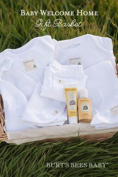 What a treat to come home to! This deluxe gift basket from Burt's Bees Baby is packed with our favorite essentials of the newborn layette snuggled into a gorgeous reusable nursery basket. Shop our entire collection of baby gift baskets to get the new family started off right.