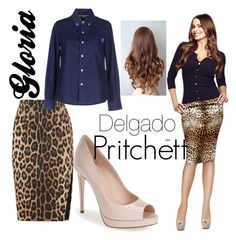 """Modern Family: Gloria Delgado-Pritchett"" by fashionloveronlee on Polyvore"