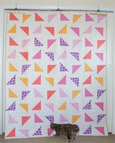 On pinterest triangle quilts baby quilts and half square triangles