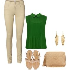 Mimi Ikonn Green Pants Green And Pink Outfit Look Of