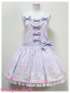 Angelic Pretty Wish me mell Tea Time サロペットSet