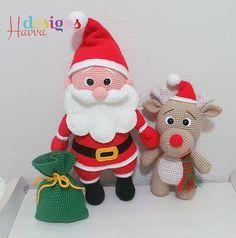 Santa Claus and Reindeer amigurumi pattern - Amigurumipatterns.net