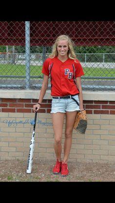 Softball senior picture idea