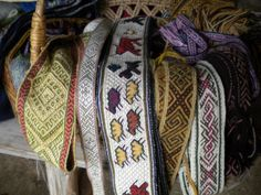 Tablet-woven bands with a mixture of historic and original motifs