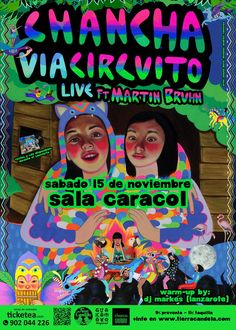 Chancha Vía Circuíto recién ha estrenado su obra Amansará y estará de gira Europea presentando este nuevo proyecto en Madrid y otras ciudades.