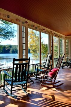 Summer Lake House Porch looks so welcoming. I could sit, read and dream all day.