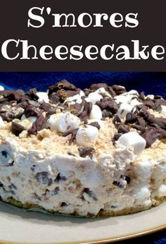 Smore's Cheesecake - For all you Smore's fans out there, this is great for any occasion and always a hit with a crowd.