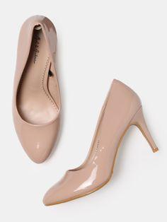 3f78fff8eb Buy Mast & Harbour Women Nude Coloured Solid Pumps - Heels for Women  2211487 | Myntra