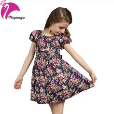 New 2016 European Style Baby Girls Dress Summer Cotton Short-Sleeve Flowers Floral Dresses Vestido Infantil Children's Clothing♦️ SMS - F A S H I O N 💢👉🏿 http://www.sms.hr/products/new-2016-european-style-baby-girls-dress-summer-cotton-short-sleeve-flowers-floral-dresses-vestido-infantil-childrens-clothing/ US $5.98